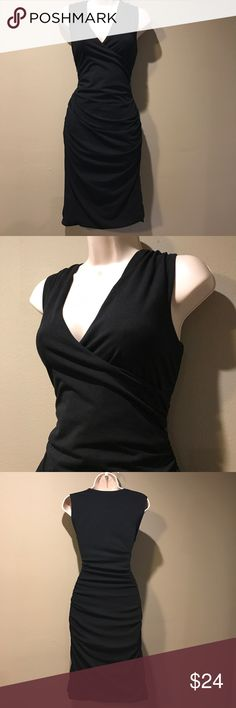 BODEN Black Jersey Stretch ruched dress, Small In excellent preowned condition, stretchy jersey knit Boudin black dress.  Ruched on the sides hugs your figure, fully lined. Boden Dresses