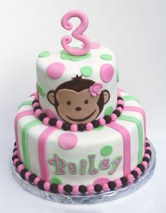 Taylor is having a monkey-girl party theme. This cake would be perfect!