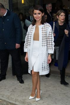Miroslava Duma Photos - Versace : Front Row - Paris Fashion Week : Haute-Couture Fall/Winter 2014-2015 - Zimbio
