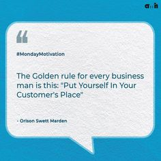 If you want to have a successful business, start with putting yourself in your customer's place. Think like them, feel like them, and just see what they need from your business. Offer them solutions, not just products. The bottom line, a successful business has happy customers. So go and be like a customer.  #amh #monday #creative #successful #businessmind #businessstrategy #customer #businessquotes #quotes #quoteoftheday #motivation #mondaymotivation #mondaythoughts #businesssecrets