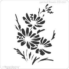 poppy flower stencil - Google Search