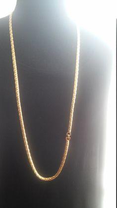 Christian Dior lang gouden vulling ketting door ClassyFabulous4ALL