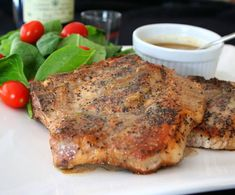 This pork chops recipe came about as one of those happy accidents in the kitchen, and turned out so well, I can't wait to make it again. I had wanted to make steak au poivre...
