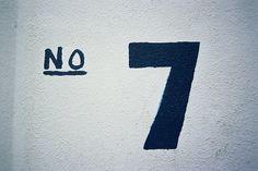 I love Number Seven (7)