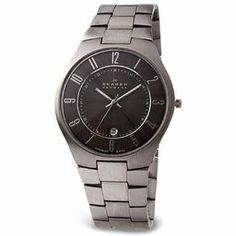 Skagen Men's 801XLTXM Titanium Collection Black Dial Watch Skagen. $103.78