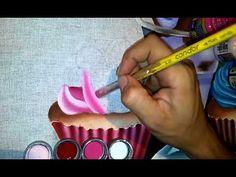 Roniel Coimbra Pintura em tecido - cup cake - YouTube