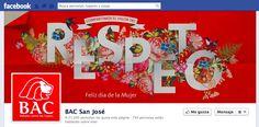 Facebook Cover Día Internacional de la Mujer 2013   Cliente: Bac San José