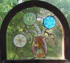 A short note - I have been told by many of my customers that see my artwork at art shows, that the snapshots depicted here do not do them justice. Stained Glass Flowers, Stained Glass Panels, Stained Glass Art, Mosaic Glass, Stained Glass Projects, Stained Glass Patterns, Mosaic Windows, Rose Marie, Vintage Plates