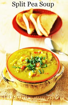 Split pea soup- skip the oil, and pressure cook for 8-10 minutes. And, you can never have too many soup recipes!