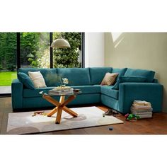 Eton Right Hand Corner Sofa Group - Teal at Homebase -- Be inspired and make your house a home. Buy now.