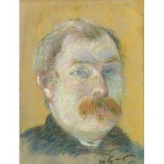 Artwork by Paul Gauguin, PORTRAIT DE WILLIAM LUND, circa 1884 Made of Pastel on paper