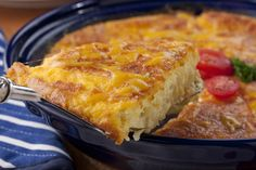 One of our favorite and easiest ways to enjoy baked macaroni and cheese is to make a Macaroni and Cheese Pie. You don't even have to pre-cook the macaroni first!