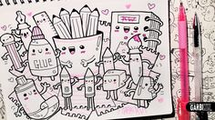 Kawaii School Supplies - Hello Doodles - Easy and Kawaii Drawings by Gar...