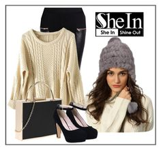 """""""♥Long Sleeve Pullovers Sweater ♥ in Shein ♥ WIN A PRIZE ♥ FREE SHIPPING WORLDWIDE"""" by teez-biz-nez ❤ liked on Polyvore featuring shein"""