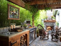 Fabulous outdoor kitchens!