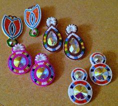 Beaded earrings by Norma Flying Horse