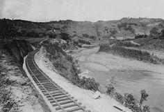Vias del ferrocarril,Rio Piedras a Caguas 1908
