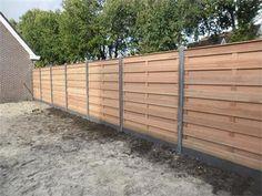Grote foto geplaatst bankirai schutting voor 89 per meter tuin en terras hekken en schuttingen