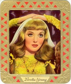 Loretta Young ~ Featured on a tobacco card.
