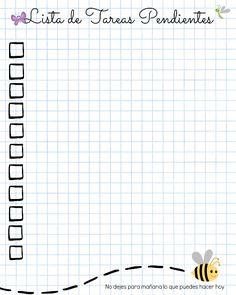 Lista de Tareas Pendientes Imprimible Bullet Journal Inspo, Bullet Journal Ideas Pages, Book Journal, Diy Agenda, Study Notes, Happy Planner, Journal Inspiration, Scrapbook Paper, Scrapbooking