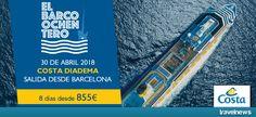 Ofertas en www.viajesviaverde.es: 4ª edición del Barco Ochentero - Crucero exclusivo...