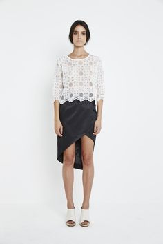 We have a slight lace obsession and totally in love with the Flora Lace Top from Shilla the label