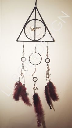 Harry Potter dream catcher I made for my friend's birthday