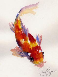 Beautiful koi painting