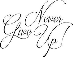 Never give up vinyl wall decal home quote inspirational decor sticker