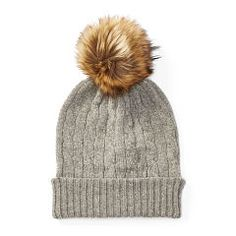 b762a86584fe5 Cable-Knit Cashmere Hat - Polo Ralph Lauren New Arrivals - RalphLauren.com  Cashmere. Cashmere HatPom ...