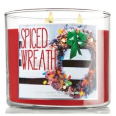 B & B Works spiced wreath candle