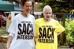 KATHARINE HAMNETT  & VIVIENNE WESTWOOD SAVE THE BEES AND SACK PATERSON