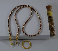 Janjan and gold beads Eyeglass Chain  Eyeglass Holder