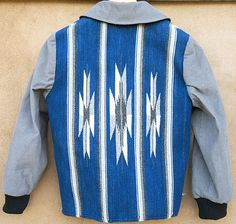 Corduroy Chimayo jacket Rio Grande style handwoven by Centinela