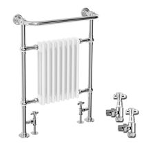 Savoy Traditional Radiator with Pair of Angled Crosshead £199 Valves