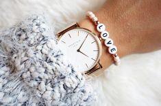 Namensarmbänder - LOVE Buchstabenarmband rosa - ein Designerstück von beadsandotherstuff bei DaWanda