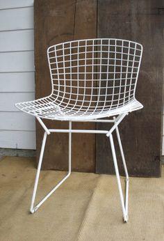 Vintage Knoll White Bertoia Side Chair #furniture #chair #vintage