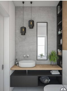Gorgeous 60 Modern Farmhouse Small Bathroom Remodel Decor Ideas High-design fads not just look stunning however include worth to your bathroom remodel. Right here are our preferred bathroom renovation ideas to include currently. Bathroom Inspiration, Bathroom Ideas, Bathroom Grey, Bathroom Small, Bathroom Storage, Bathroom Basin, Bathroom Modern, Master Bathroom, Bathroom Mirrors