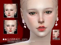 The Sims Resource: Earrings F 201701 by S-Club • Sims 4 Downloads