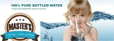 Get your bottled water delivery from Masters Coffee and Water! We offer bottled water coolers & bottled water services for residential homes and businesses! Bottled Water Delivery, Water Delivery Service, Coffee Delivery, Coffee Service, Water Coolers, Masters, Water Bottle, Homes, Pure Products