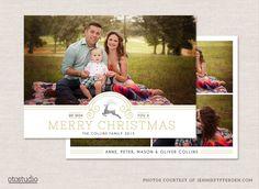 Christmas Card Template CC0102 by OtoStudio on Creative Market