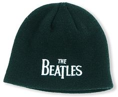 The Beatles Beanie Hat: Drop T Logo (Black)