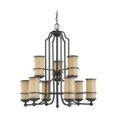 Sea Gull Lighting Nautical Chandelier with Two Tiers and Nine Lights | 31522-845 | Destination Lighting
