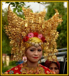 Minangkabau Bridal Head Dress (Sumatra)