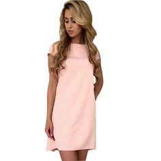 Fashion Mini Short Dresses Women's O-neck Dress Sexy Short Sleeve Loose Casual Dress Solid Women Dress Plus Size LJ5144E