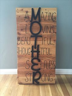 Mother's day gift my daughter and I did for my wife made from pallets.