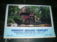 1980 AMHERST MILLING CO CALENDAR-AMHERST VA FLOUL MEAL SEED-UNUSED OLD STOCK #AMHERSTMILLINGCO