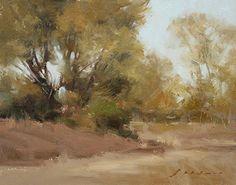"Grey Lodge Trees #2 by Simon Addyman Oil ~ 8"" x 10"""