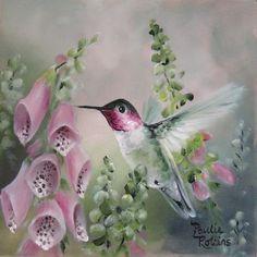 Garden Speckles ~ by Artist Paulie Rollins Hummingbird Painting, Hummingbird Garden, Garden Birds, China Painting, Bird Pictures, Watercolor Bird, Little Birds, Art Portfolio, Beautiful Birds
