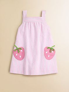 Florence Eiseman Toddler's & Little Girl's Seersucker Strawberry Dress
